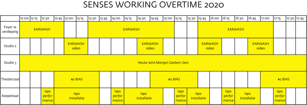Timetable Senses Working Overtime